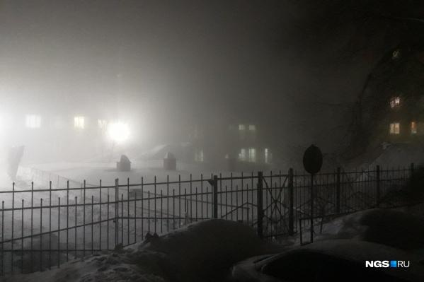 Туман появился рано утром