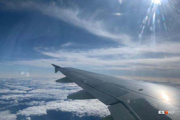 На такую высоту поднялся самолет