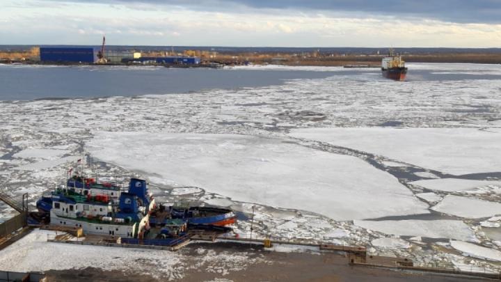 Ледоход на Северной Двине находится в 170 километрах от Архангельска