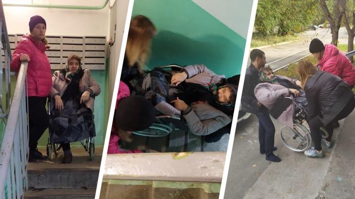 В Челябинске прокуратура проверит, почему в подъезде инвалида, нуждающегося в гемодиализе, нет пандуса