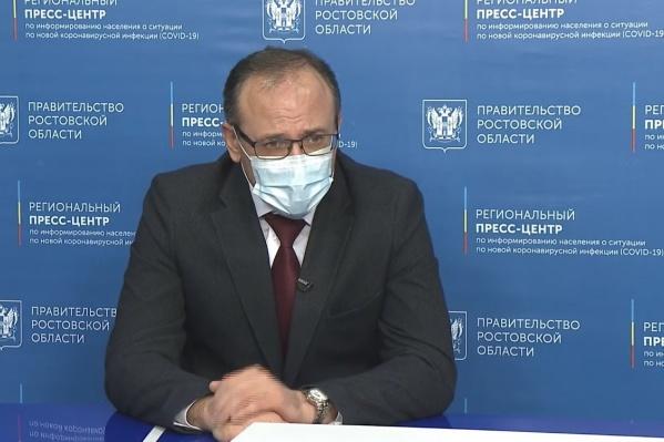 Евгений Ковалёв заявил, что Роспотребнадзор выступит с предложением о переводе на дистанционное обучение при необходимости