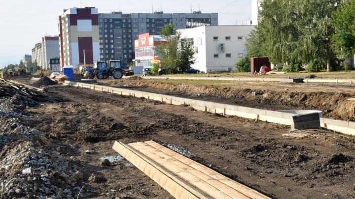 В Кургане на затопляемом участке улицы Мальцева сделали ещё одну канализацию