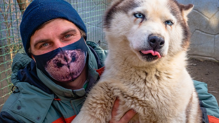Работники «Роева ручья» сфотографировались с животными, чтобы призвать красноярцев носить маски