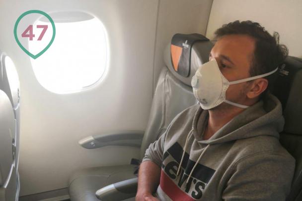 Игорь в самолёте на Минск. Фото 47news