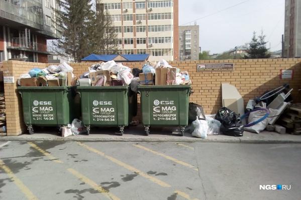 Крупный перевозчик мусора прекратил свою деятельность и перестал вывозить мусор из двух районов города