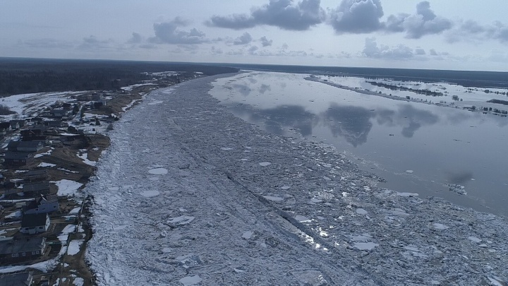 МЧС прогнозирует продвижение ледохода в Холмогорском районе в течение суток