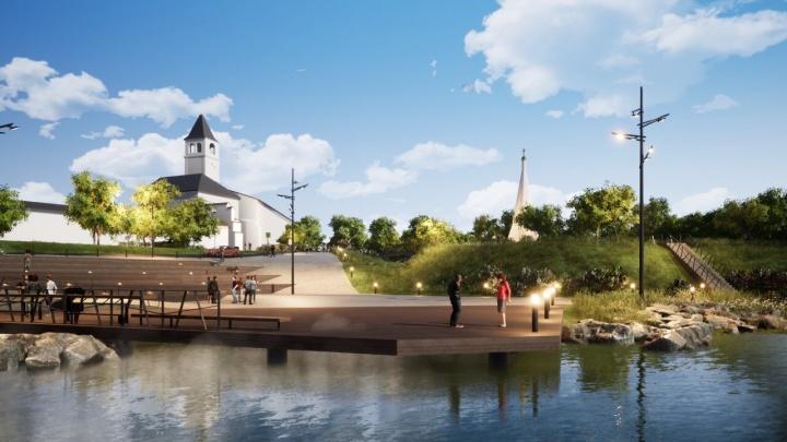 В Ярославле хотят обновить Которосльную набережную: смотрим эскизы