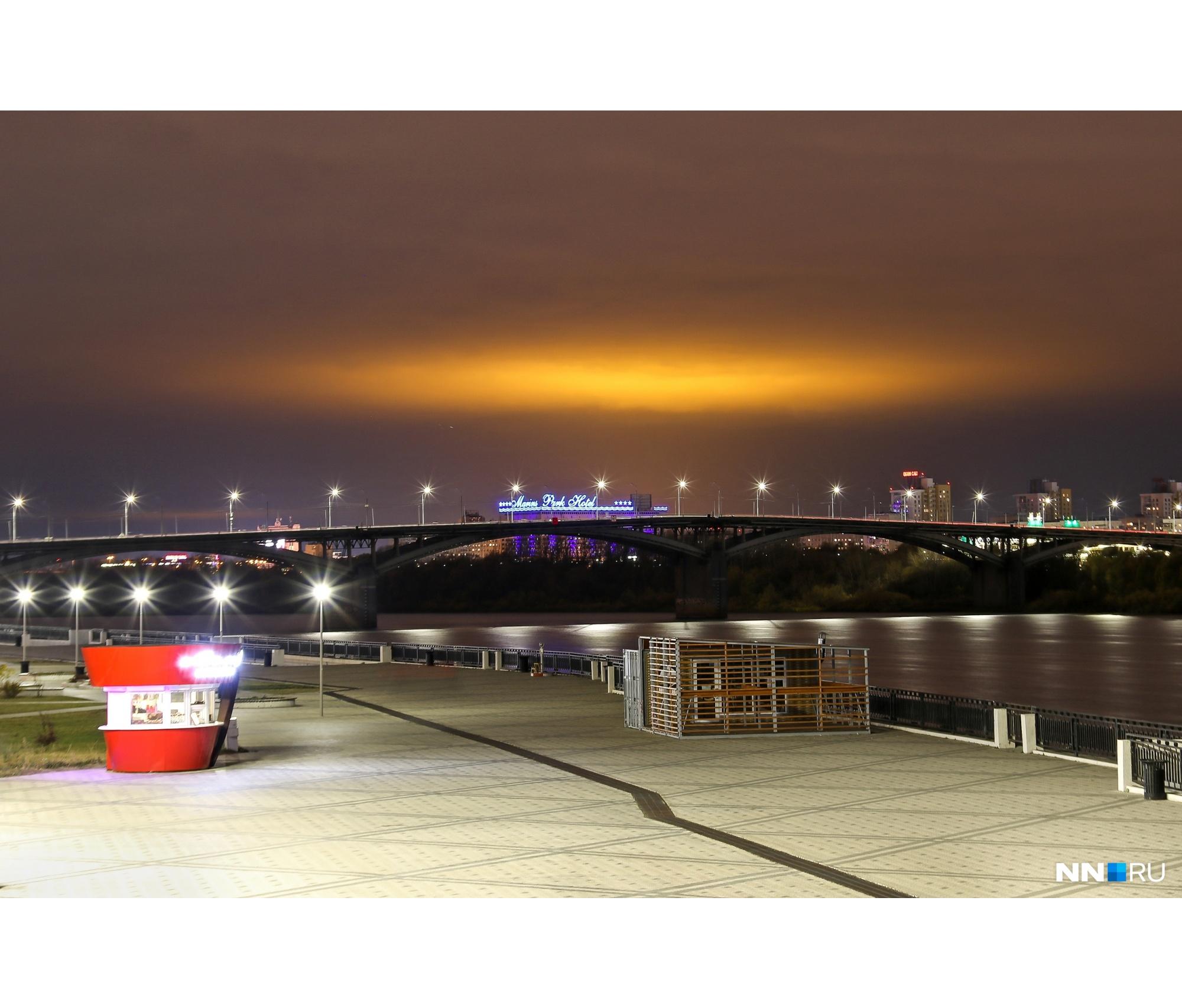 Золотое зарево было видно из всех районов Нижнего Новгорода