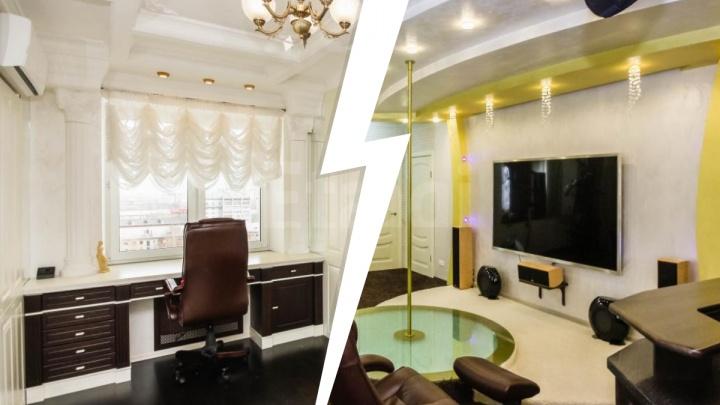 Водопад в душе и релакс-комната с пилоном. В Тюмени продают элитную квартиру на КПД
