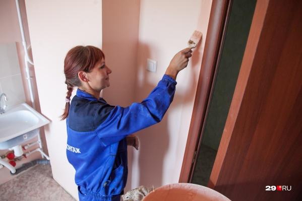 В школе нужно провести косметический ремонт так, чтобы стены и потолки можно было мыть