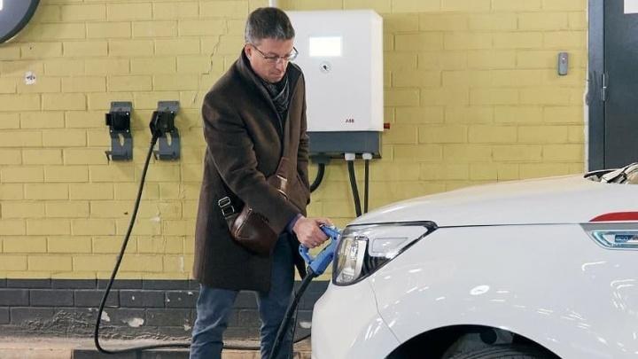 В Екатеринбурге появилась бесплатная зарядка для электромобилей