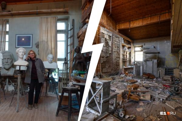 После того как из здания съехали скульпторы, оно пустует