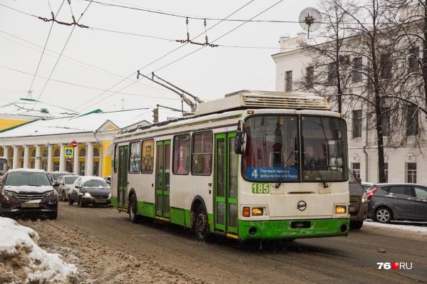 Троллейбусы 4-го маршрута не ездят в Ярославле уже с августа прошлого года