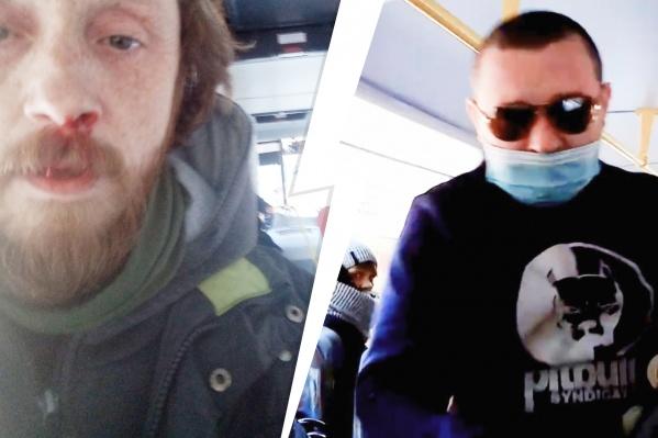 """Водитель автобуса <nobr class=""""_"""">№ 14</nobr> подрался с пассажиром, который отказался надевать маску"""