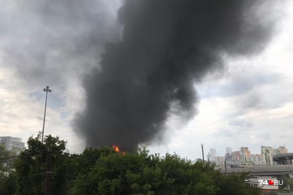 Пожар произошёл на улице Свободы, 4