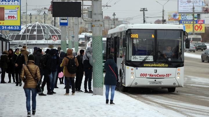 В Омске транспорт всю неделю будет работать по расписанию выходного дня
