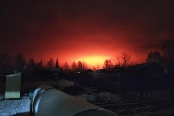 Небо выглядело жутко красным