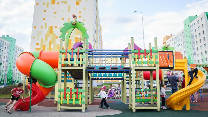 И фитнес, и аттракционы: в Самаре обустроили новый сквер с развлечениями для всей семьи