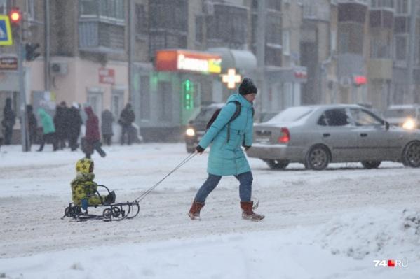 Снег должен пойти в Челябинске уже сегодня днем