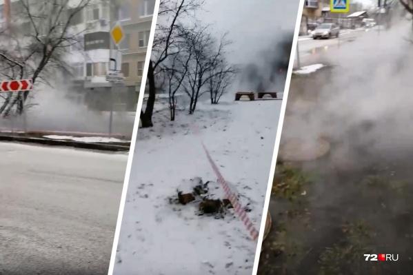 Такую картину наблюдали жители центра города из-за прорыва
