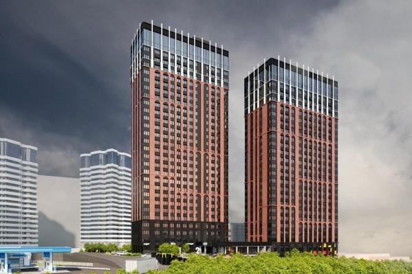 В первом доме будет 33 этажа: 29 —над землей и 4 — под землей