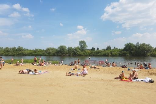 В Кургане купальный сезон 2020 года был открыт с 8 июля