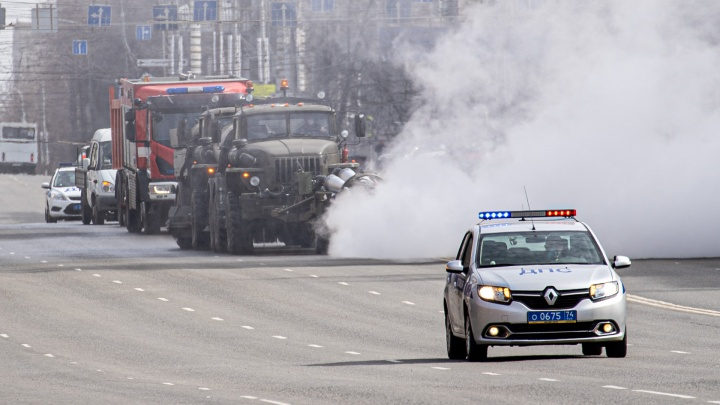 В Челябинске с утра продезинфицируют от коронавируса два десятка улиц