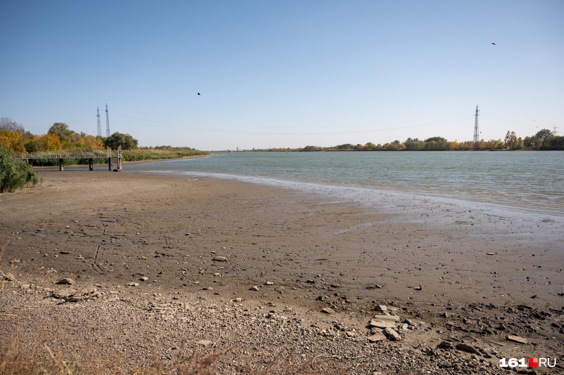 У Старочеркасска река тоже мелеет время от времени