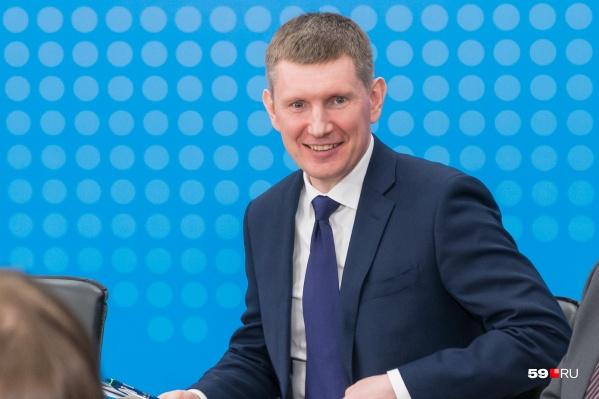 C 2017 года Максим Решетников возглавлял Пермский край