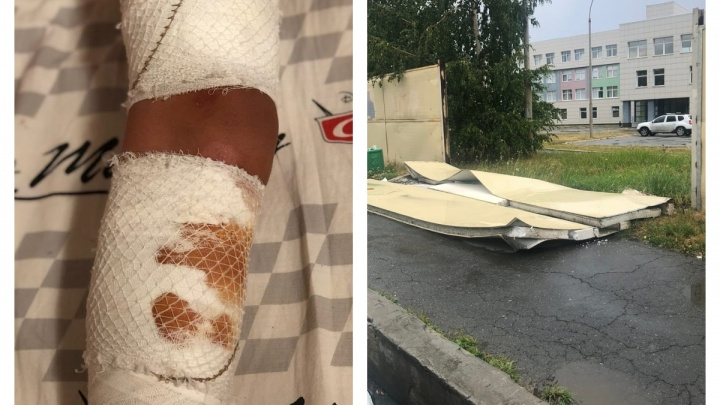 «Сыну разрезало ногу»: в Екатеринбурге на 11-летнего мальчика упал школьный забор