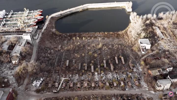 «Здесь погибла сверхцивилизация»: волгоградец показал развалины судостроительного завода с высоты