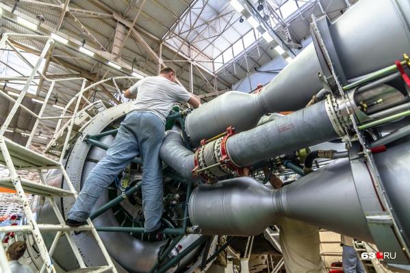 Самарский завод производит ракеты для запуска в космос
