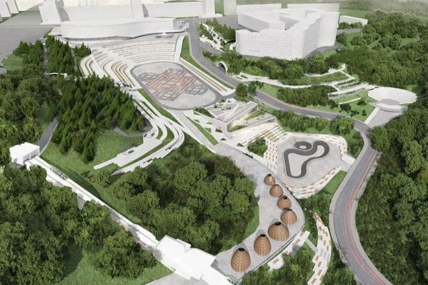 Владимир Барабаш подробно рассказал о проекте бетонного оформления парка «Ватан»