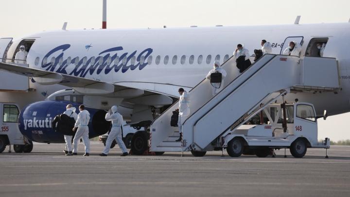 В Челябинск прибыл второй эвакуационной борт с вахтовиками, застрявшими в Якутии из-за коронавируса