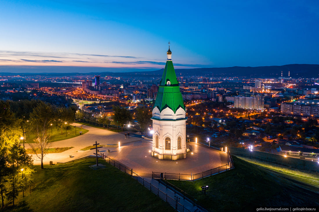 Часовня Параскевы Пятницы — один из символов Красноярска
