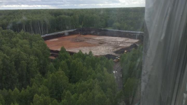 В Челябинске начали строить скандальный хоккейный центр, из-за которого вырубили лес