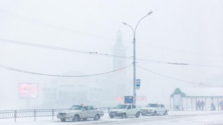 На Новосибирск идут сильные метели и гололед
