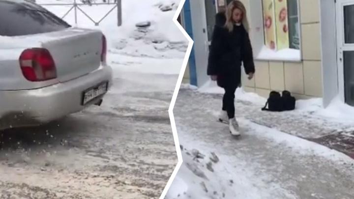 «Спасибо нашей мэрии за увлекательный досуг». Сибирячка прокатилась на коньках по улицам Новосибирска