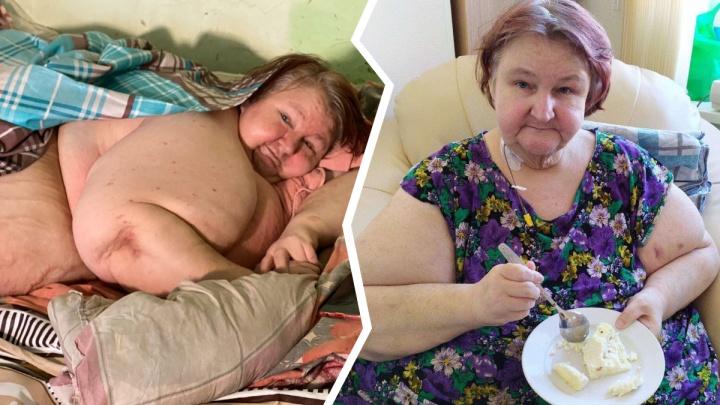 Похудевшая вдвое тюменка учится заново ходить. Теперь она весит 150 килограммов