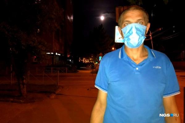Виктор спустился в метро «Речной вокзал» без маски