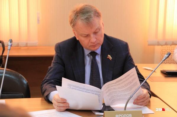 Александр Фролов трудится депутатом в Архангельском областном собрании