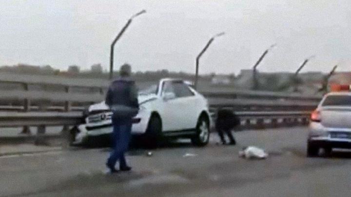 Появилось видео места аварии с тремя погибшими в Волгограде