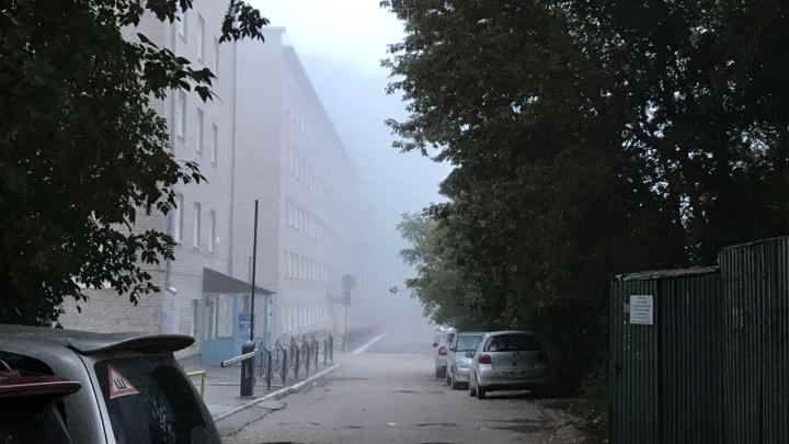 Непроглядный осенний туман окутал Новосибирск: смотрим фото