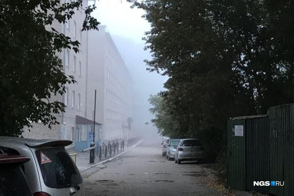 Туман опустился низко