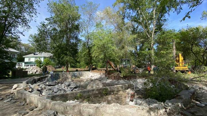 В Самаре началась реконструкция сквера Речников