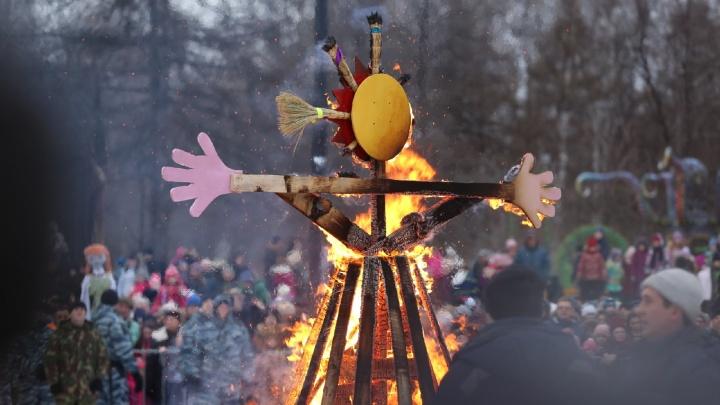Ярославцы на масленичные гулянья в центре пришли со своими блинами