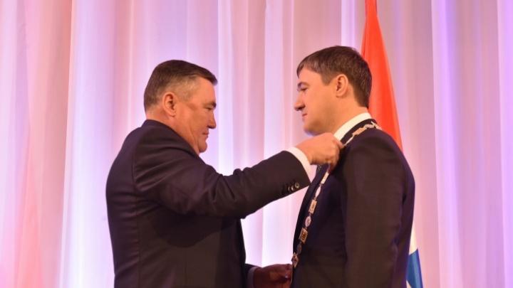 Почему на гербе Пермского края именно серебряный медведь и что за цепь надевает на инаугурации губернатор
