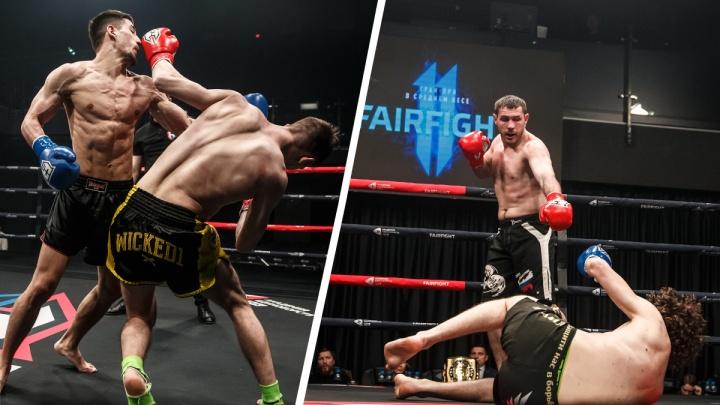 На турнире в Екатеринбурге уралец отправил в нокаут одного из сильнейших бойцов России, но зрители этого не увидели
