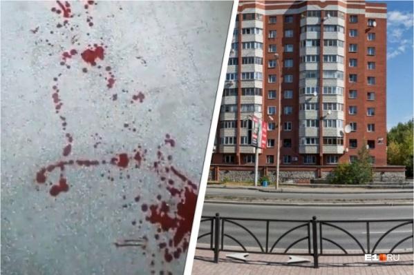 После ночной стрельбы в доме на Машинной, 29а в Екатеринбурге оказался залит кровью подъезд