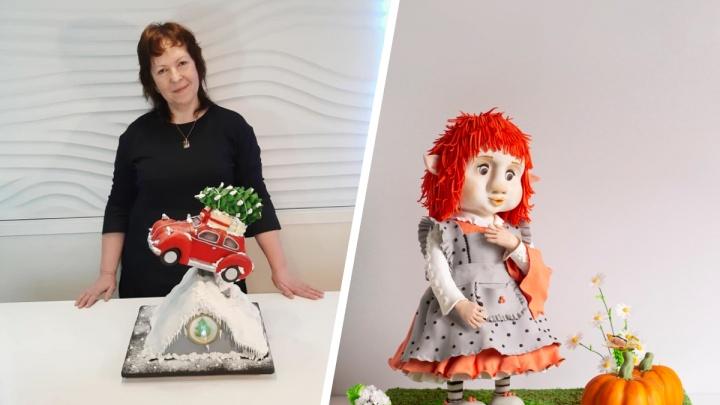 Кондитер из Новосибирска сделала торт в виде девочки-тролля ради британского конкурса